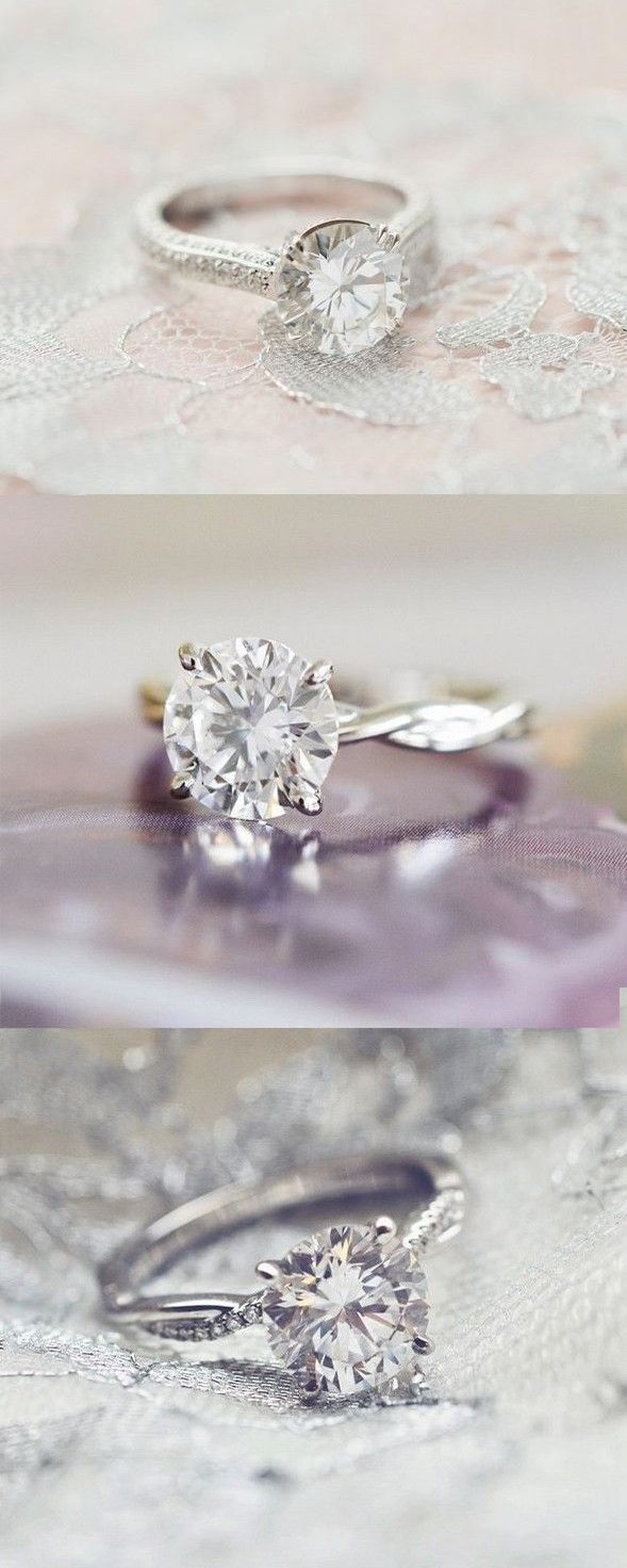 Love the classic elegance of these timeless diamond engagement rings.