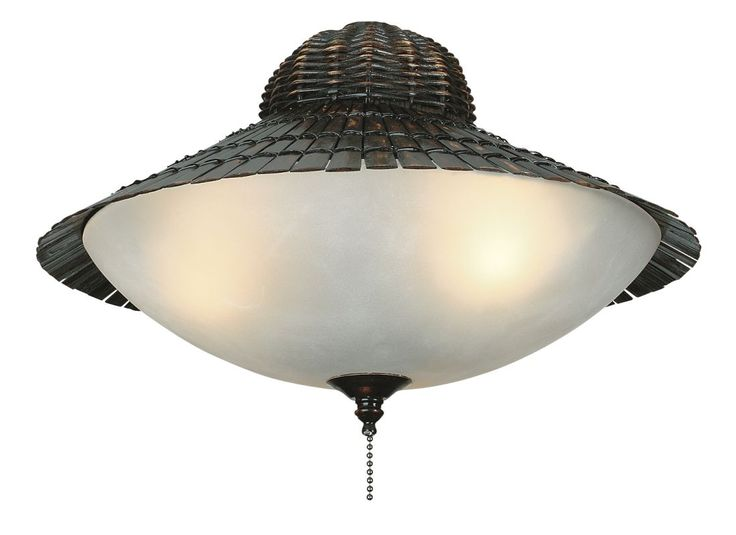 Fanimation LK122 3 Light Tropical Bamboo Globe Light Kit Antique Bamboo Ceiling Fan Accessories Light Kits Light Kits