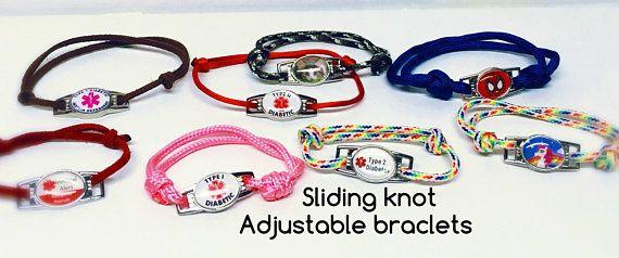 Medical Alert Bracelets Sliding Knot Adjustable Lots Of Varieties To Choose From Sliding Knot Medical Alert Medic Alert Bracelets
