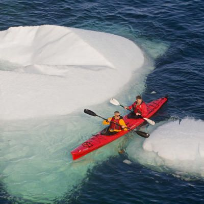 Kayaking among icebergs off the coast of Newfoundland, Canada. | Coastalliving.com This Looks AMAZING!!!