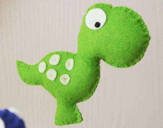 Nursery mobile Baby mobile Dinosaur Mobile by FlossyTots