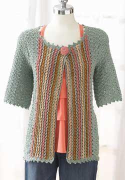 Free Pattern - Patons Grace - Jacket (crochet)