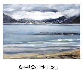 """Cloud Over Hout Bay"".  View from Kommetjie."