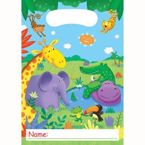 20085945 - Jungle Buddies Loot Bag Jungle Buddies Loot Bag (16cm x 22cm) - Pack of 8. Please note: approx. 14 day delivery time.