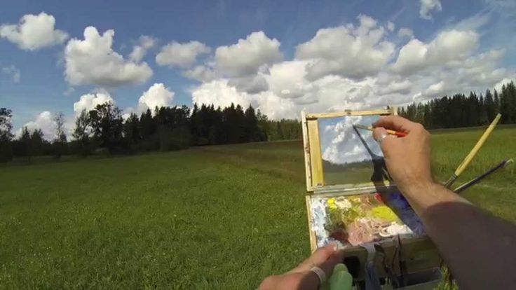 Acrylic Plein Air Painting Demo In Real Time - Plein Air Painting Advent...