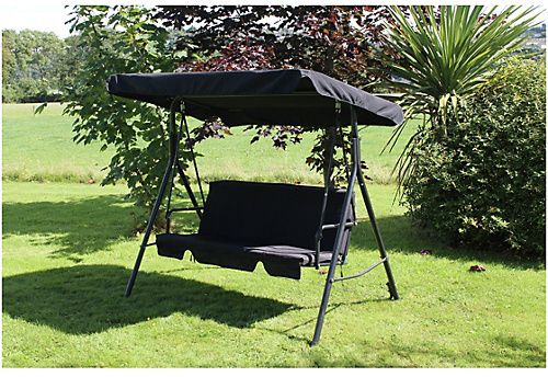 This is the perfect seat for when you want to relax in your garden. This comfortable 3 seater garden swing chair is easy to put together meaning you get more time to enjoy yourself. It includes a canopy to keep the sun out of your eyes and cushions for that added piece of comfort. HOME 3 Seater Swing Chair.