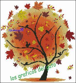Precioso gráfico de un árbol en su cuatro estaciones del año...                                                                                                                                                                                 Más