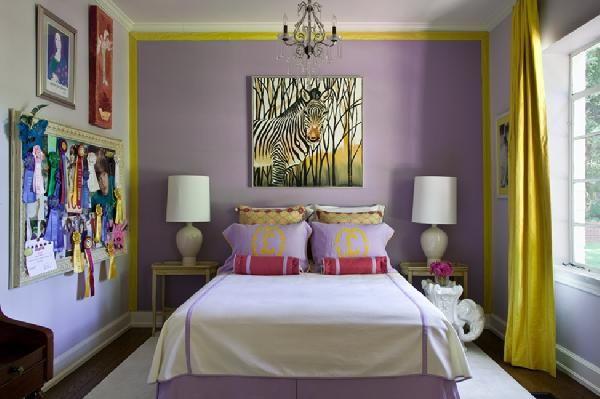 .: Girls, Girl Room, Purple, Colors, Kids Room, Bedrooms, Bedroom Ideas, Accent Wall