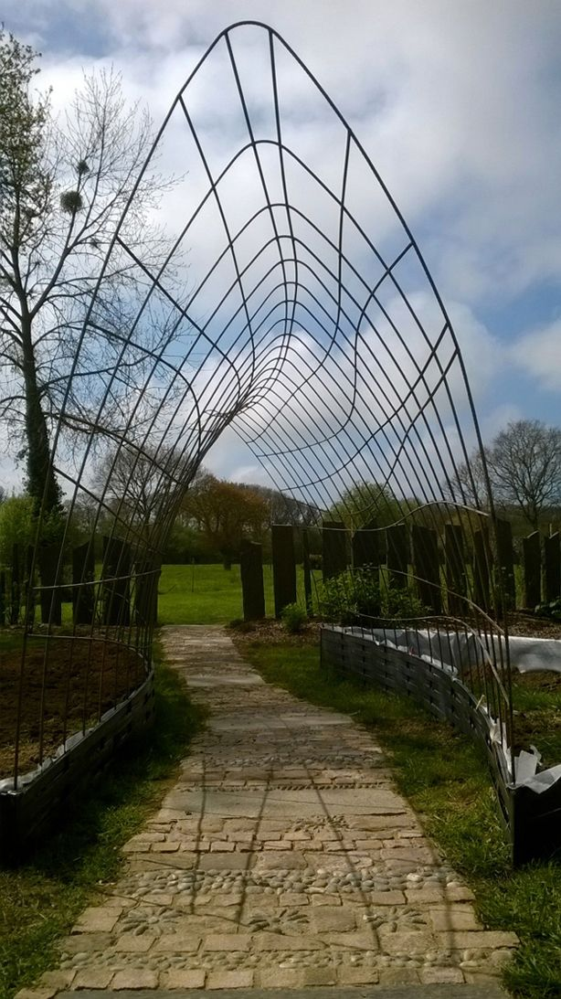 This environmental #sculpture will look absolutely incredible once plants and vines arrive.