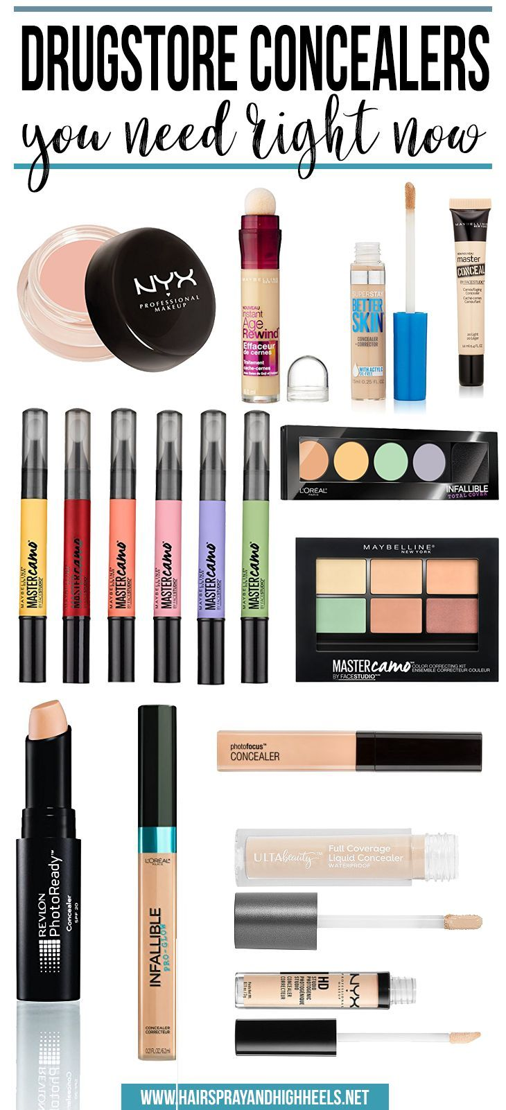 BOOKMARK THIS! This blogger shares the BEST drugstore concealers on the market!