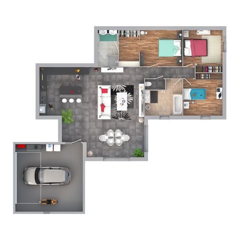 Maison   Idée Contemporaine Louane   Maisons Floriot   211000 Euros    128.45 M2 | Faire