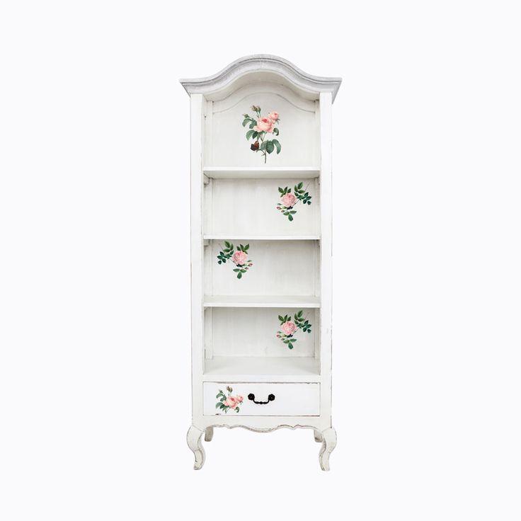 Витрина «Анаис», версия «Королева цветов» произведена из натурального вяза. Древесина вяза - крепкая, твердая, не боится сырости и устойчива к гниению. Открытый шкафчик имеет три просторных полки и выдвижной ящик. В светлом пространстве Ваши любимые вещицы смогут блистать особо торжественно. #мебель, #витрина, #этажерка, #стеллаж, #декупаж, #прованс, #декор, #интерьер, #французскийстиль, #decouper, #stand, #showcase, #provence, #frenchstyle, #objectmechty