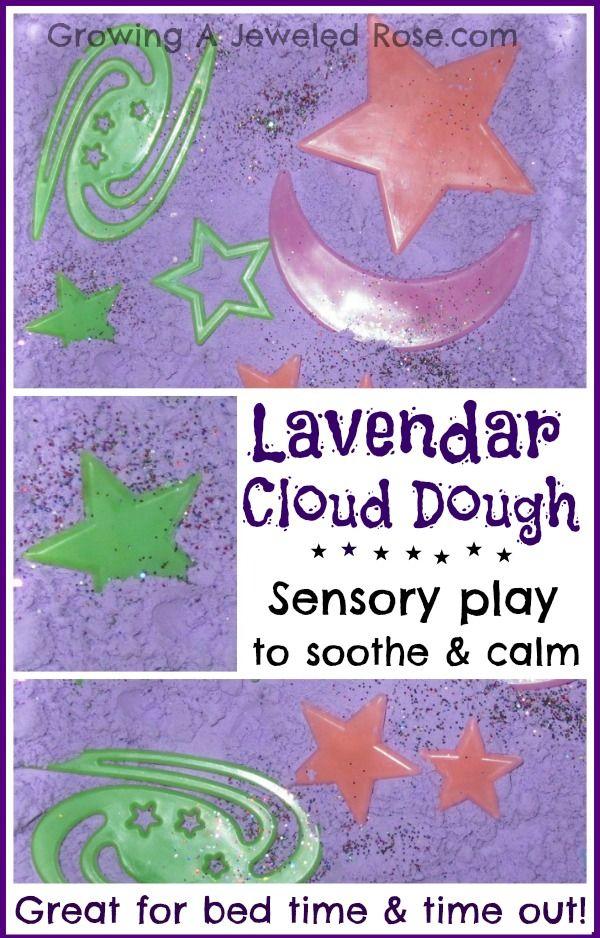Calming Lavender cloud dough