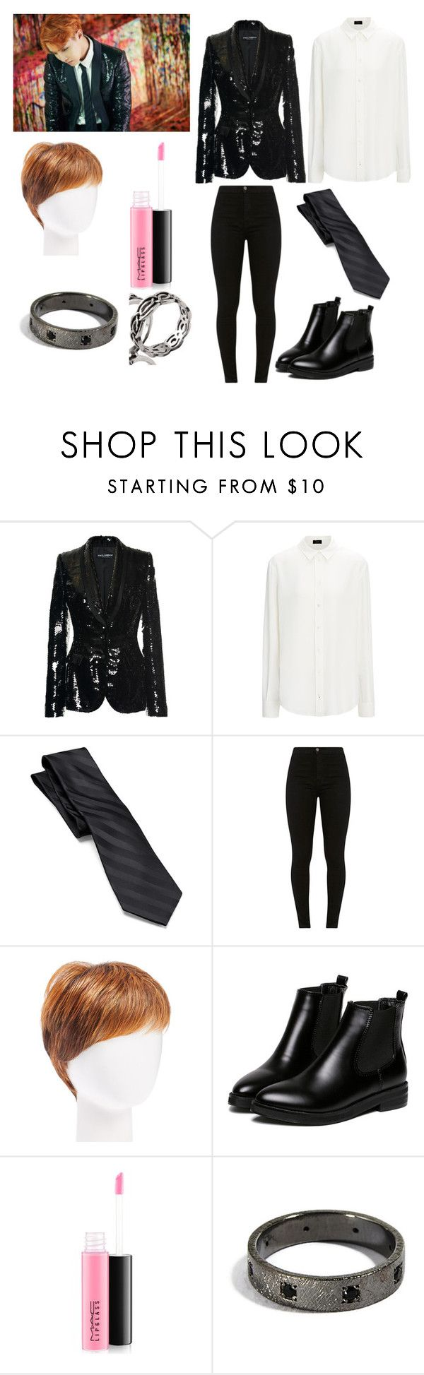 """Bts J-hope(Hoseok)-Inspired ""Mama""(short film) Outfit"" by sassmaster42068 ❤ liked on Polyvore featuring Dolce&Gabbana, Croft & Barrow, Hairdo, WithChic and MAC Cosmetics"