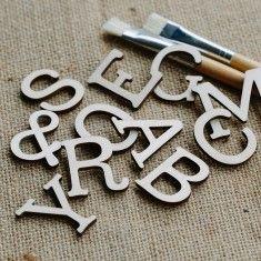 Scrapbook Letters 6cm