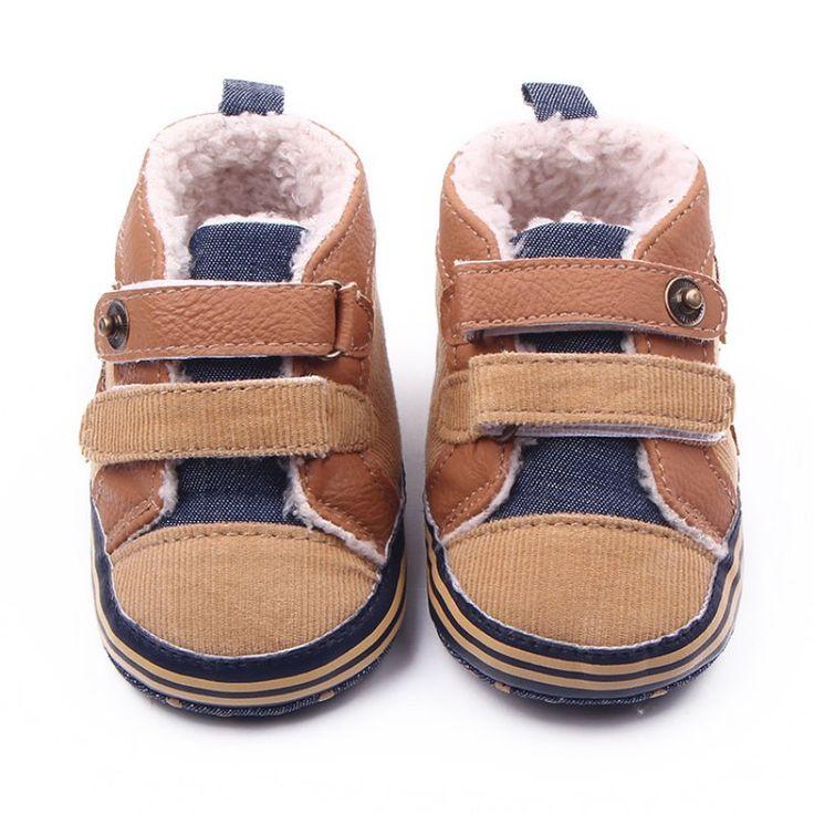 Fashion Winter Newborn Baby Boys Shoes Warm First Walker Infants Boys Antislip Boots Children's Shoes