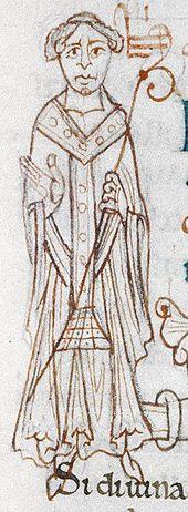 Een eigentijdse afbeelding van aartsbisschop Lanfranc. Oxford Bodleian Library. Lanfranc wilde geen aartsbisschop van Rouen worden in 1067. Dat was niet het geval toen hij drie jaar later werd genomineerd als primaat van de Engelse kerk. Zodra Stigand op 15 augustus 1070 canoniek was afgezet, reisde hij naar Engeland. Reeds twee weken later, op 29 augustus 1070, werd hij tot aartsbisschop van Canterbury gewijd.