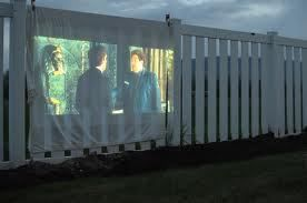 Watch Movies On The Fence Outside-----------Outside Projector----------Movie Projector