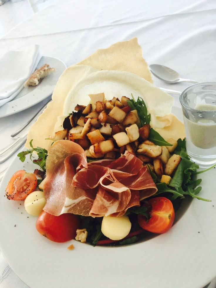 Princess salad. Santorini Weddings, Wedding venue, Wedding ceremony and reception, Sunset view, wedding menu.