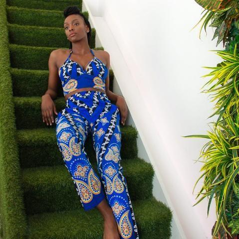 Blue Savannah Trouser Two Piece