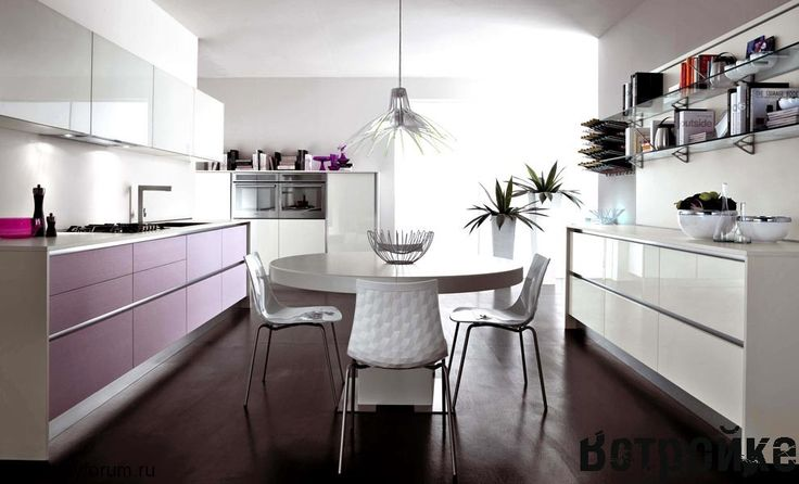 столы для кухни белые фото