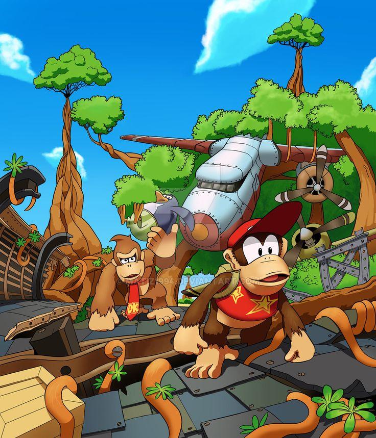 Donkey Kong Country Tropical Freeze: Mangrove Cove by MatiZ1994 (Fan Art / Digital Art / Drawings / Games)