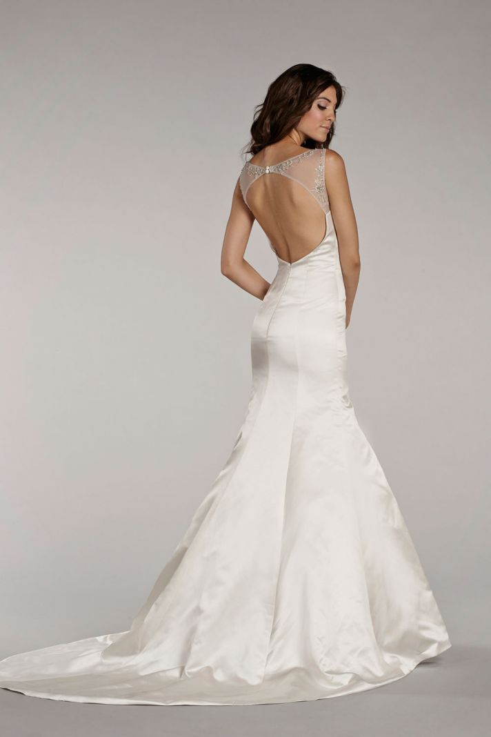 242 best backless bridal gowns images on pinterest for Backless satin wedding dress