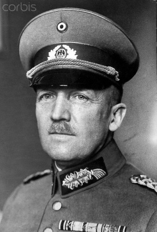 German general and politician Kurt von Schleicher. He was killed during the Night of the Long Knives, where Nazis carried out a series of political murders.