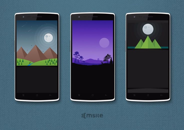 The wallpapers I designed for Moonrise Icon Pack / Sunrise Icon Pack | MSite Studio