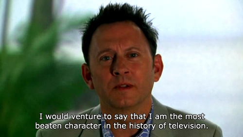 """""""I would venture to say that I am the most beaten character in the history of television."""""""
