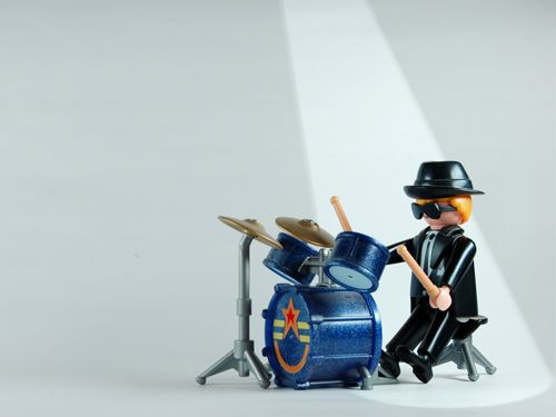 Drums: Playmobil© Desktop Wallpaper