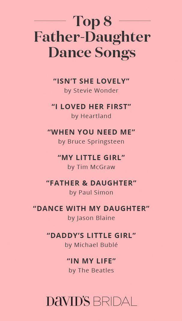 Best Father Daughter Dance Songs Weddingplanning
