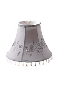 EMBROIDERED BEADED BELL LAMP SHADE