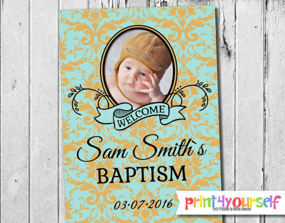 Personalized Decorative Baby Boy Baptism by Print4Yourself on Etsy