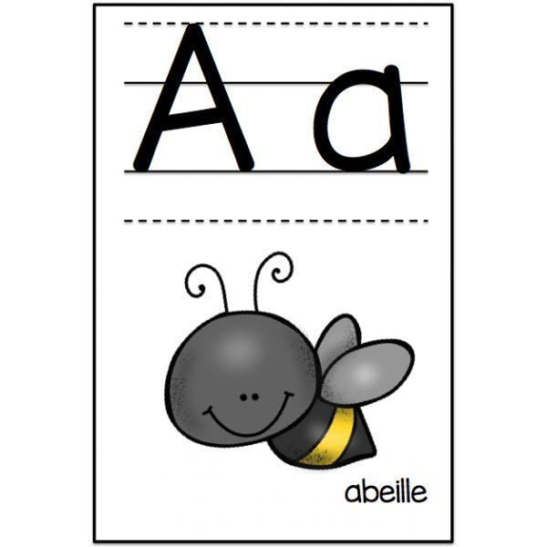 Affichage lettres de l'alphabet et chiffres www.lecahierdepenelope.com