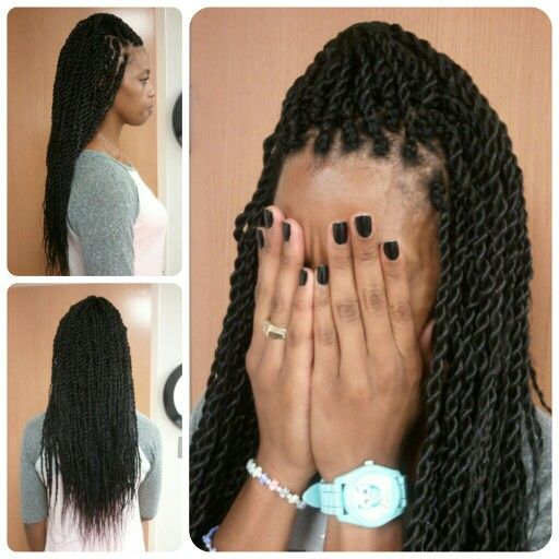 Crochet Box Braids Bobbi Boss : Senegalese Twists using Bobbi Boss Jumbo Braid. The texture is very ...