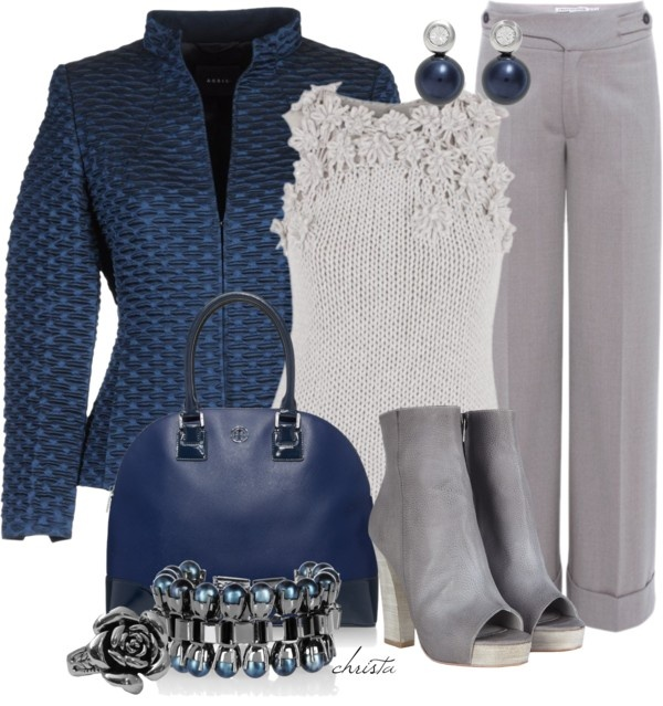 """""""Blue and Grey"""" by christa72 on Polyvore"""