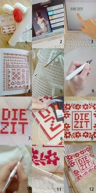 DIY cushions with embroidery - read how to at website www.101woonideeen.nl - design by www.jeskeweel.com