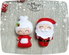 Christmas ornaments Santa and Mrs Claus ornament felt Santa ornament for Christmas tree decorations Christmas accents Xmas decorations This item is Made to Order (4-6 weeks for making) ● Dimensions - about 4.2 and 4.4 inch ● Made of high-quality eco-friendly polyester felt ● Delicately filled with polyester fiber filler ● 100% handmade (hand-cut and hand-sewing) ❄❄❄ Please note ❄❄❄ ● Colors may vary slightly from those shown on the monitor ● This item is 100% handmade and made to order, ...