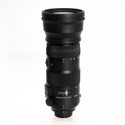 Nikon Sigma AF DG 150-600mm F5-6.3 OS S HSM Autofocus Telephoto Lens 737306