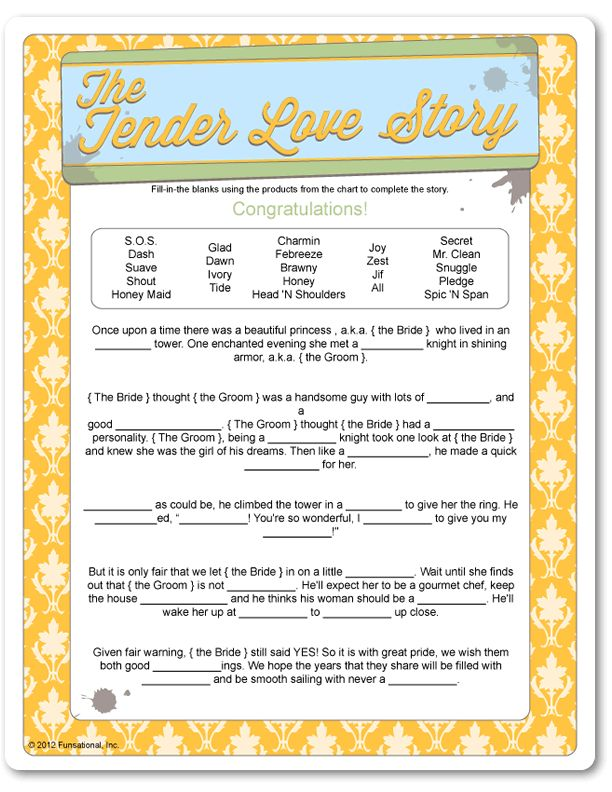 Printable The Tender Love Story