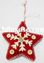 felt christmas ornament patterns free - Google Search