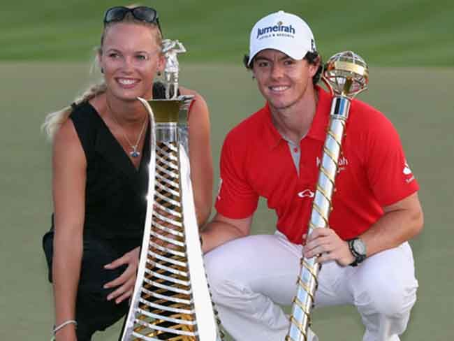 """""""Caroline Wozniacki to quit tennis to start a family with Rory McIlroy"""" (click into photo for full story). #carolinewozniacki #rorymcilroy #tennis #golf #sport #career #resignation #family"""