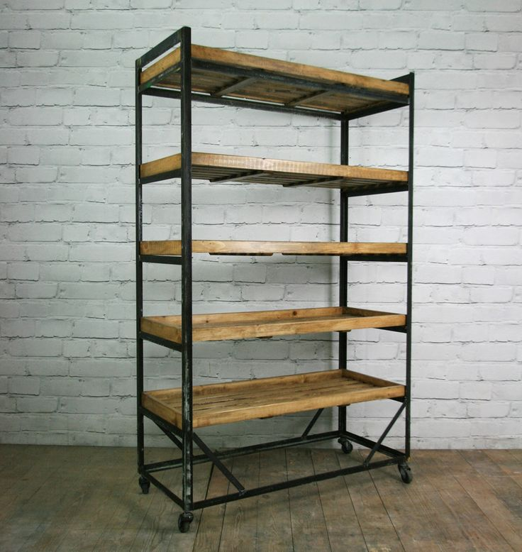 DIY Hack: install rustic wood shelves on a metal shelving unit. Corrie's Notes: I want to try this idea with my Costco metal shoe racks.                                                                                                                                                      More