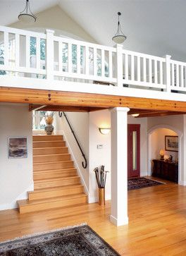 Entry Stairway Ideas | Entry and stairs to loft. - traditional - staircase - seattle - by Dan ...