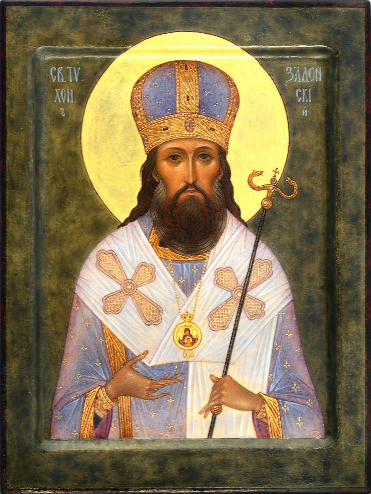 """St. Tikhon of Zadonsk. 2017. 8"""" x 6"""". St.Tatiana church in NY (USA)."""