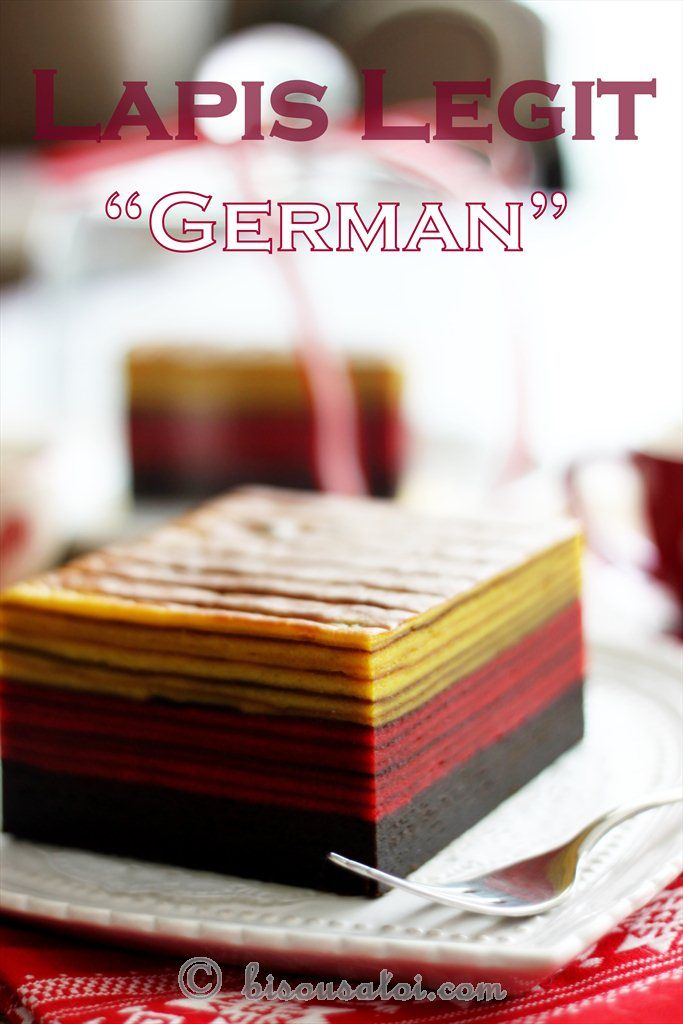 Hehehe why lapis legit German? first of.. this is actually an ordinary lapis legit cake but bec its Eid and its for mom.. i decided to add...