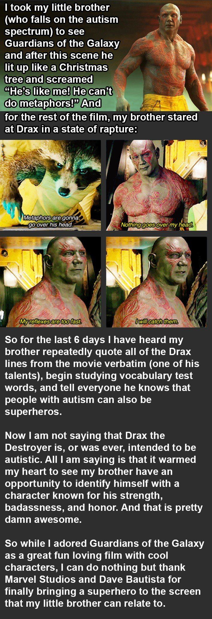 funny pictures about guardians of the galaxy helps kid with autism oh and cool pics about guardians of the galaxy helps kid with autism - Periodic Table Activity Darn My Kid Brother