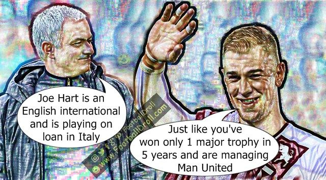 José Mourinho Surprised that Joe Hart is Still an English International #Mourinho #Hart #ManUnited #ManCity #Wenger #Arsenal #Liverpool #Chelsea #EPL #Neymar #Messi #Barcelona #Ronaldo #FCBarcelona #Jokes #Comic #Laughter #Laugh #Football #FootballDroll #Funny #CR7 #ForçaBarça #LaLiga #RealMadrid