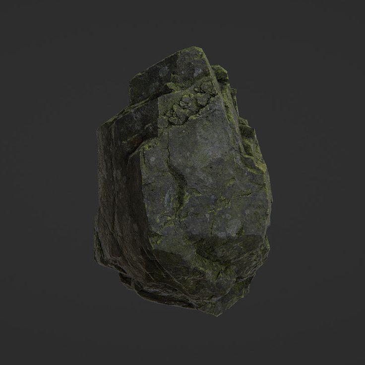 Quixel Material Test - Mossy Rock, Sam Ibbitson on ArtStation at https://www.artstation.com/artwork/K2XNy